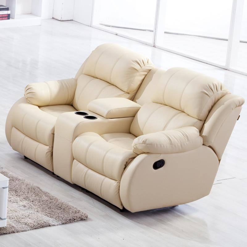 头等舱沙发真皮沙发组合多功能客厅沙发 三人位
