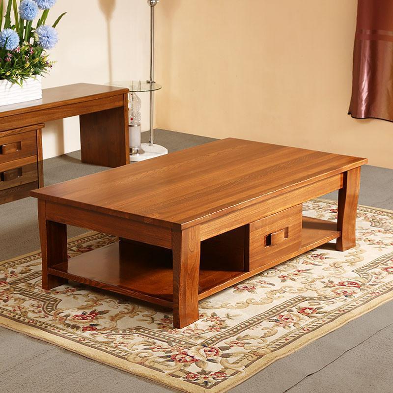 【初林家具】初林中式客厅茶几实木家具