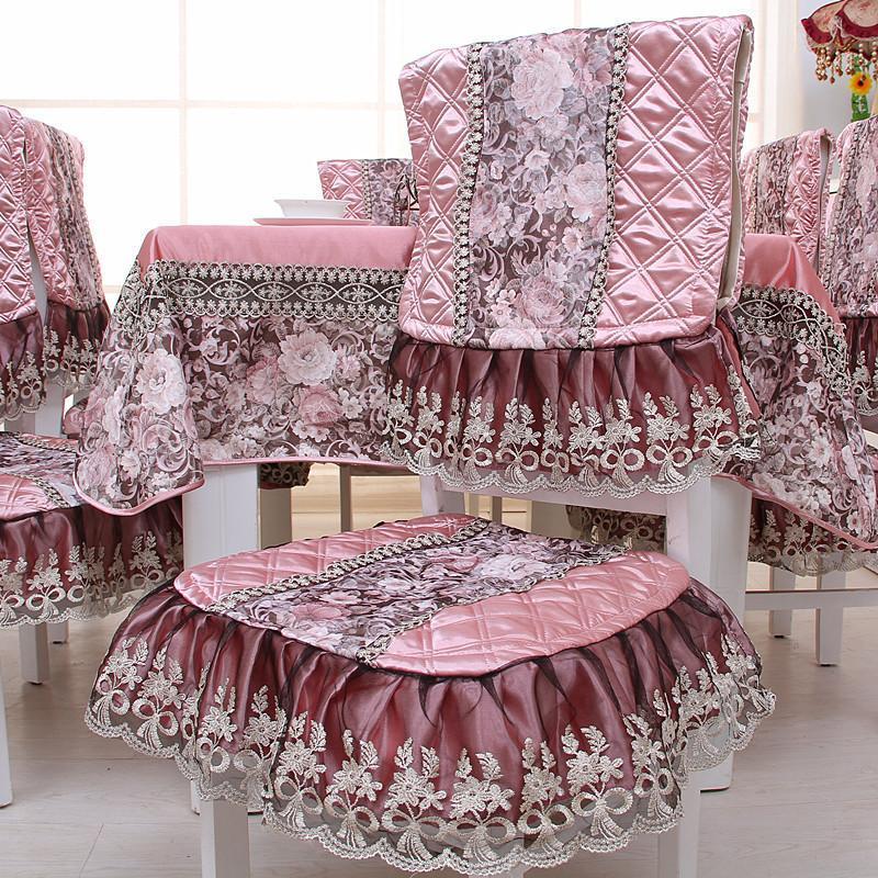 【凡轩家居】欧式布艺餐桌布椅子垫餐桌餐椅套装