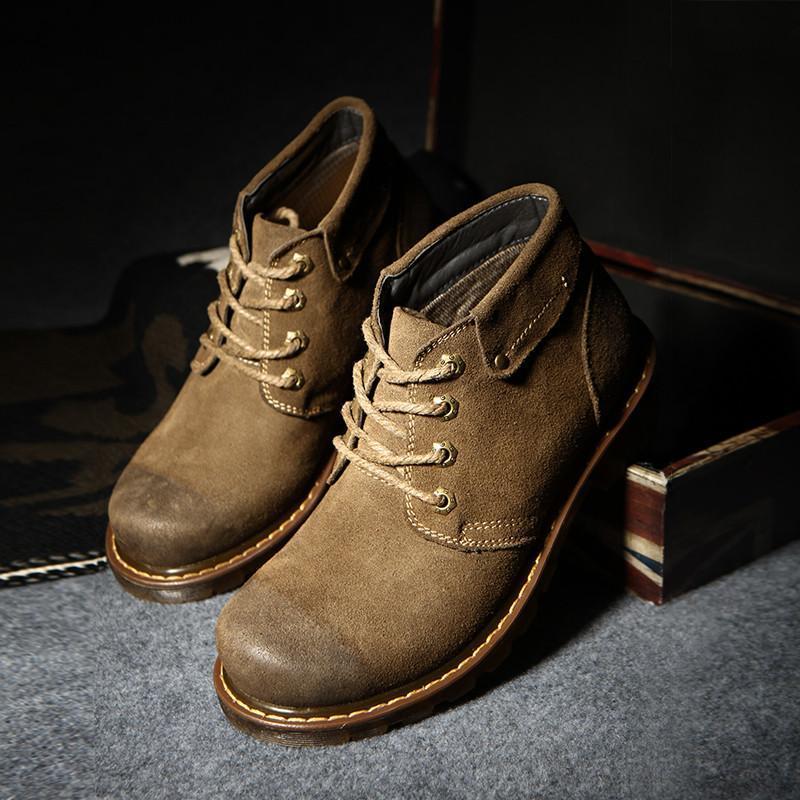 蒂诺克冬季潮流男靴英伦马丁靴男士真皮靴子短靴高帮