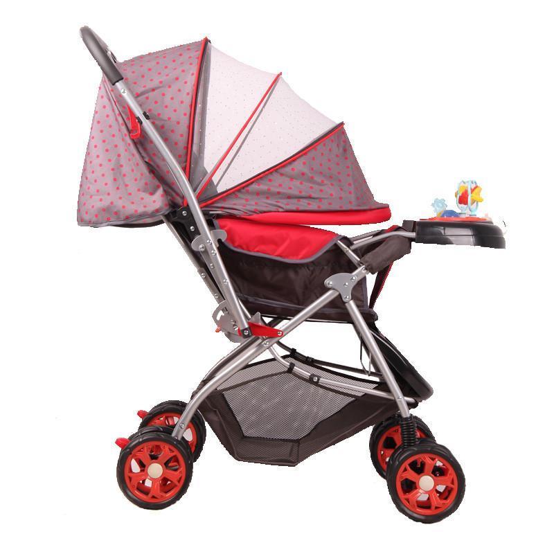 好孩子c309婴儿车折叠步骤图