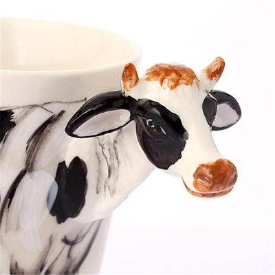 趣玩3d立体纯手绘可爱萌萌动物陶瓷马克杯 梅花鹿款