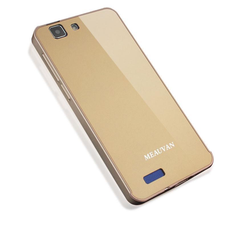 步步高x3l手机套 vivox3l手机壳 vivo x3l金属边框后盖保护套 俏丽粉