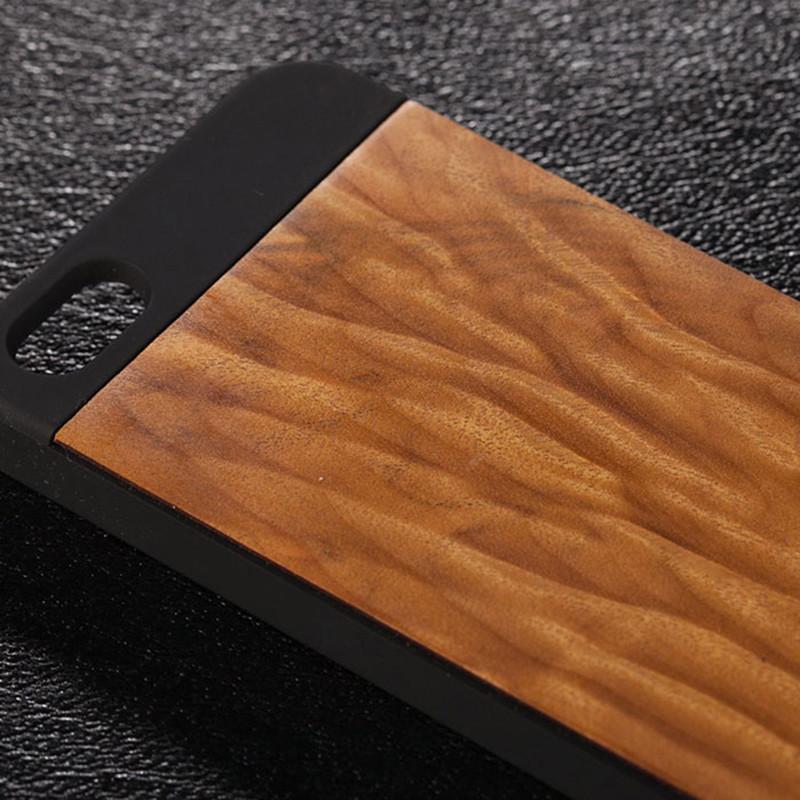 金丝楠木老料水波纹手机壳把件 适用于iphone5/iphone5s 经典复古时尚