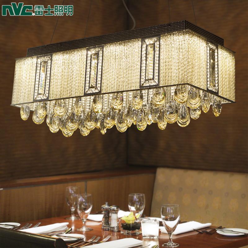 雷士餐厅灯led吊灯创意水晶饭厅灯具宜家简欧餐厅灯