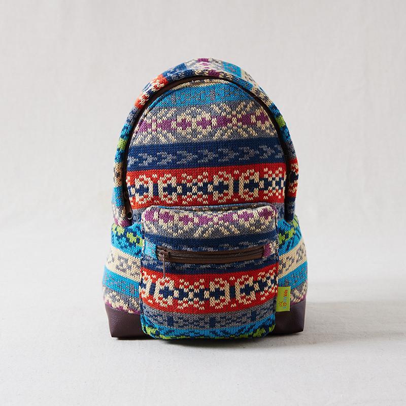 cozzykids加厚彩织毛线多用儿童背包