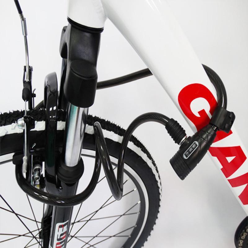 铁霸钢缆圈圈锁山地车锁坐垫锁自行车锁单车配件特价