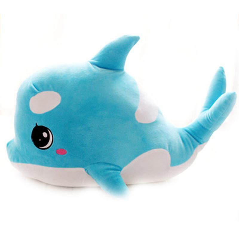 萌宠可爱大眼睛情侣海豚公仔鲸鱼毛绒玩具布娃娃儿童