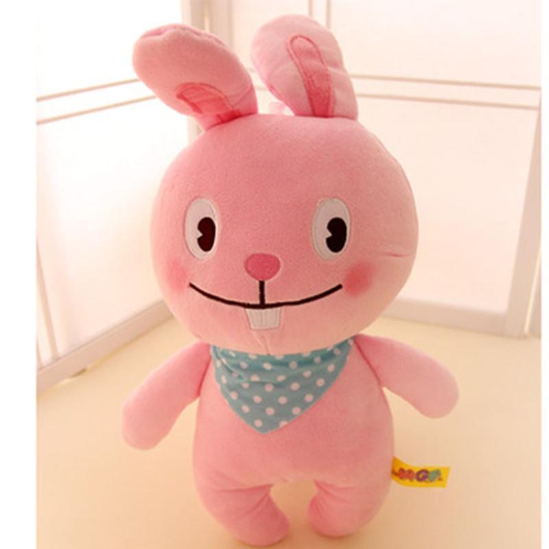 可爱开心农场动物毛绒公仔 奶牛兔子青蛙鸡仔玩具布娃娃儿童礼物 235c