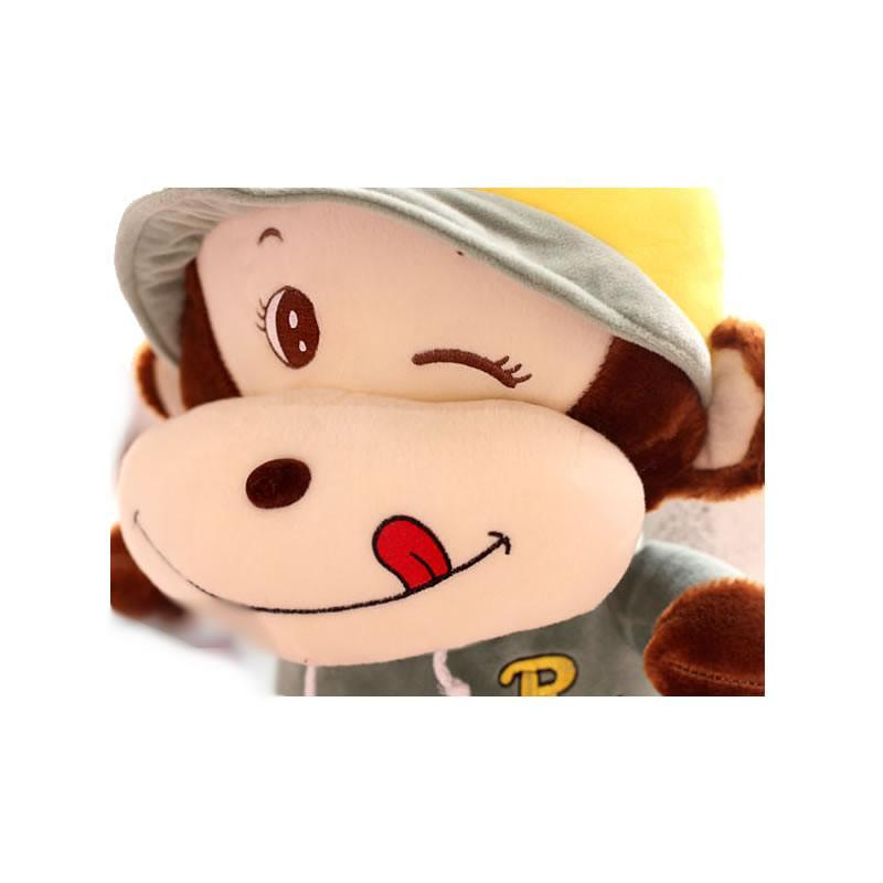 luckyted可爱卡通戴帽子猴子公仔 眨眼睛猩猩毛绒玩具