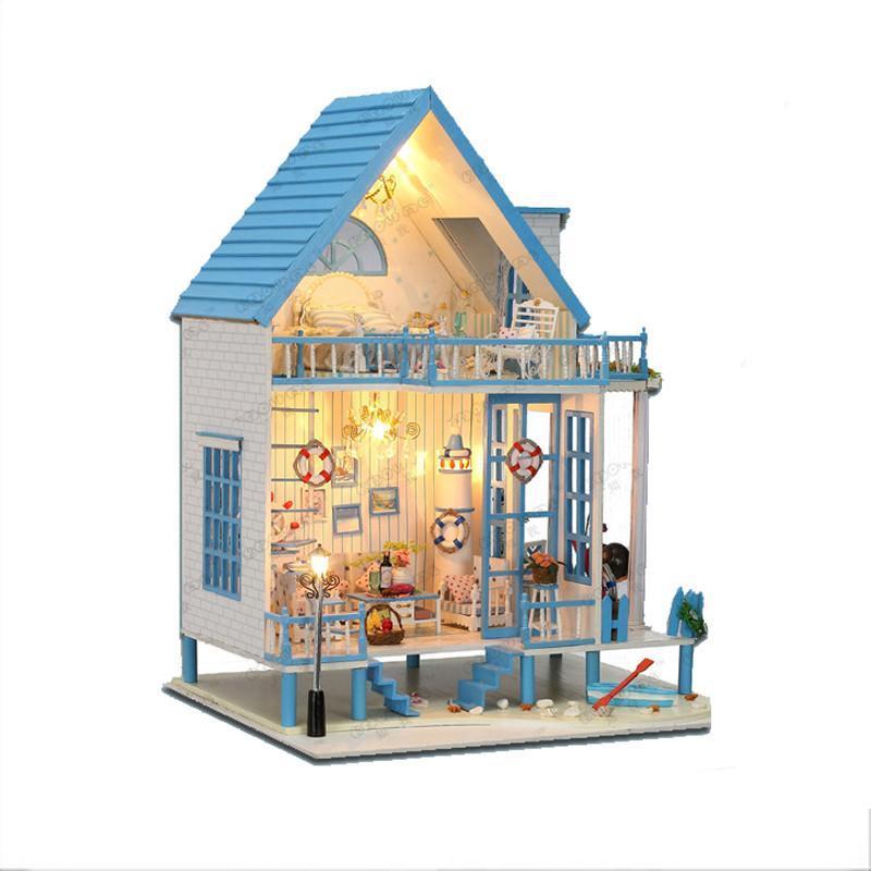 大型别墅手工建筑房子模型恋恋海边小屋