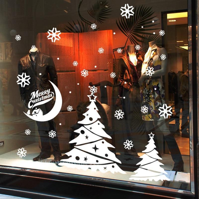 圣诞节贴纸 店铺装饰窗花贴橱窗玻璃贴柜贴服装店