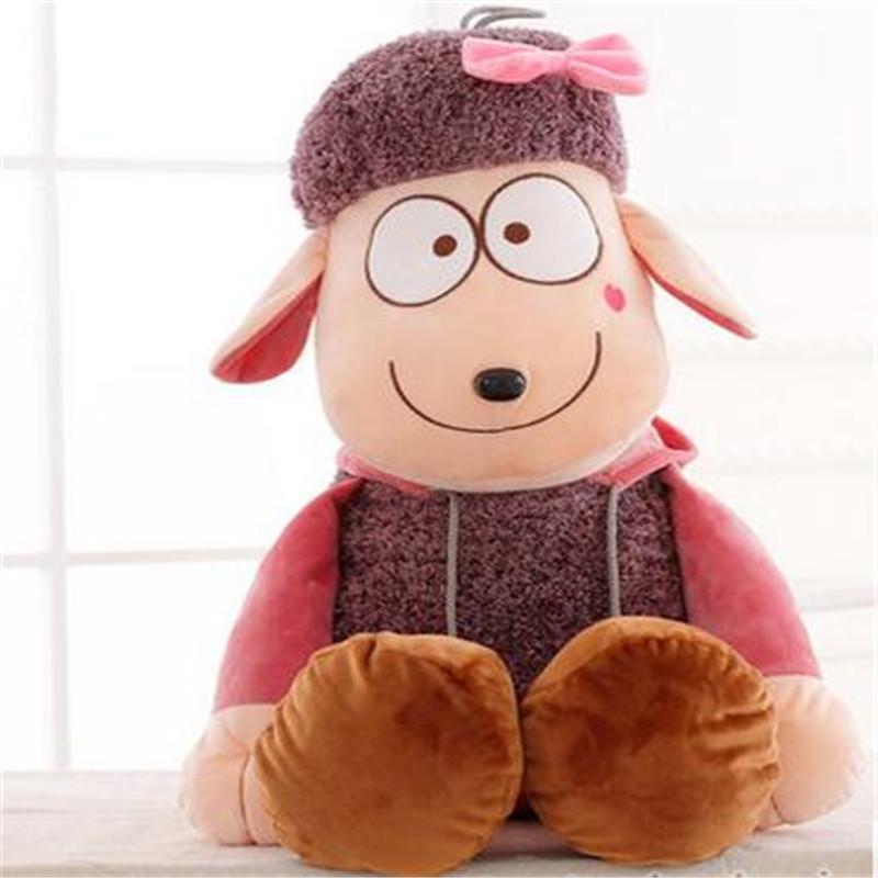 可爱小绵羊公仔毛绒玩具 送女生生日礼物 儿童节礼品布娃娃抱枕p 绿色