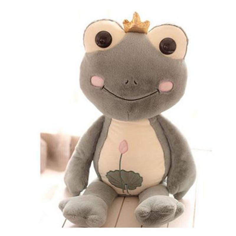 可爱卡通皇冠青蛙王子毛绒玩具公仔抱枕 儿童节礼物包邮p 浅绿色1米