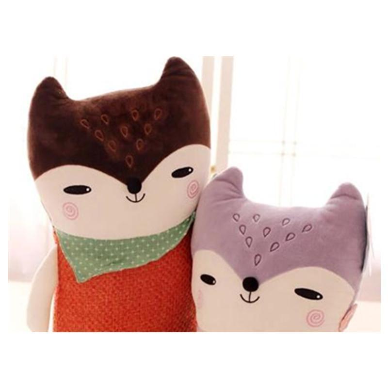 可爱小狐狸公仔抱枕毛绒玩具布娃娃靠垫