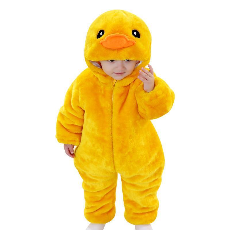加厚动物造型夹棉连体哈衣男女宝宝冬装衣服新生婴儿