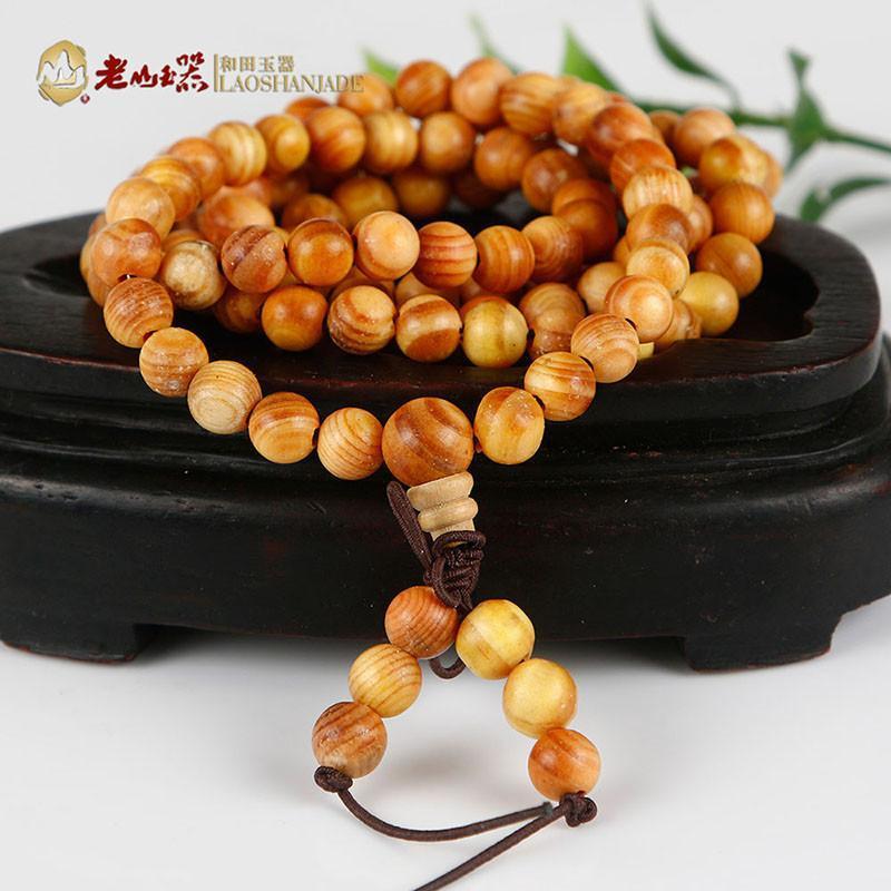 帝王印尼血龙木透光圆珠手链(一口价)