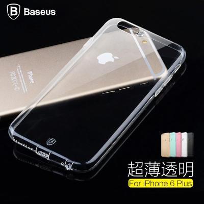 倍思iphone6plus手机壳简系列塑料透明保护套超薄测试仪水分图片