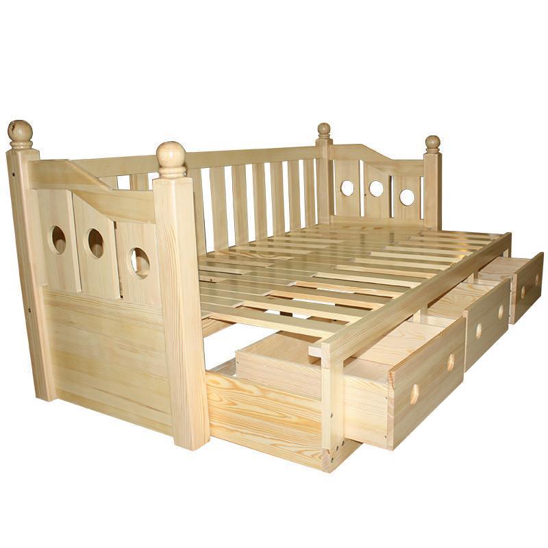 现代时尚简约纯实木沙发床