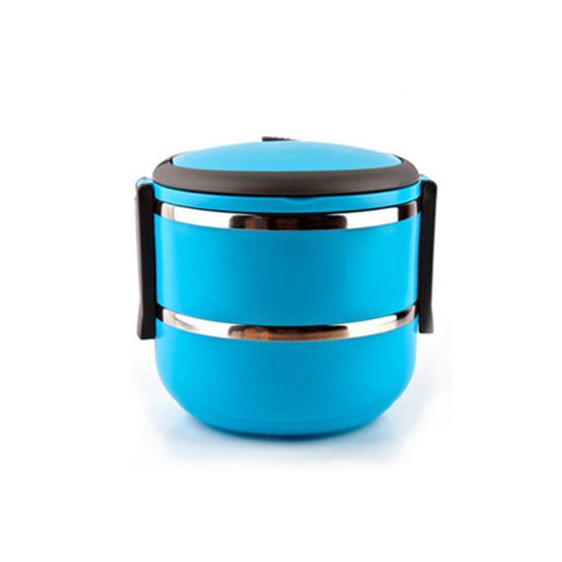 乾越 大容量提锅保温饭盒 可爱不锈钢带饭盒 多层保温