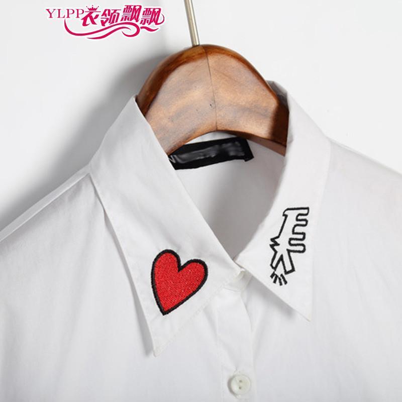 衣领飘飘可爱甜美t桖长袖t恤女士秋冬新款修身打底衫学生2015春季体恤
