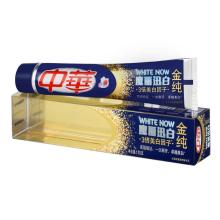 中华牙膏 金纯魔丽迅白冰晶双重薄荷味170g 深层清洁 去牙渍 去黄 清新口气【联合利华】