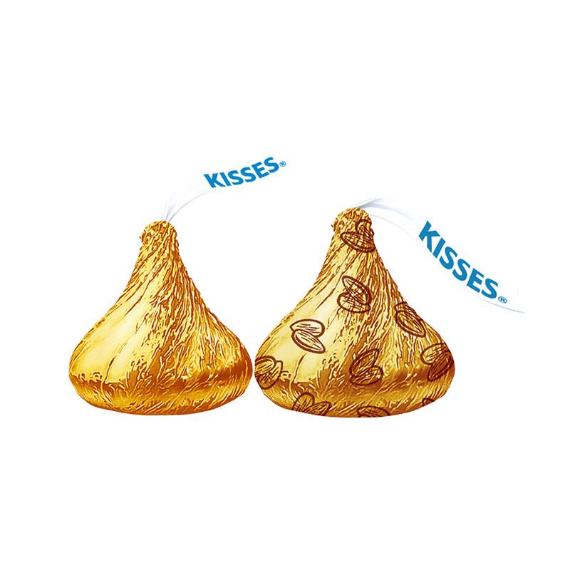 好时 KISSES好时之吻精选巧克力礼盒(牛奶巧克+巴旦木牛奶巧克力)160g