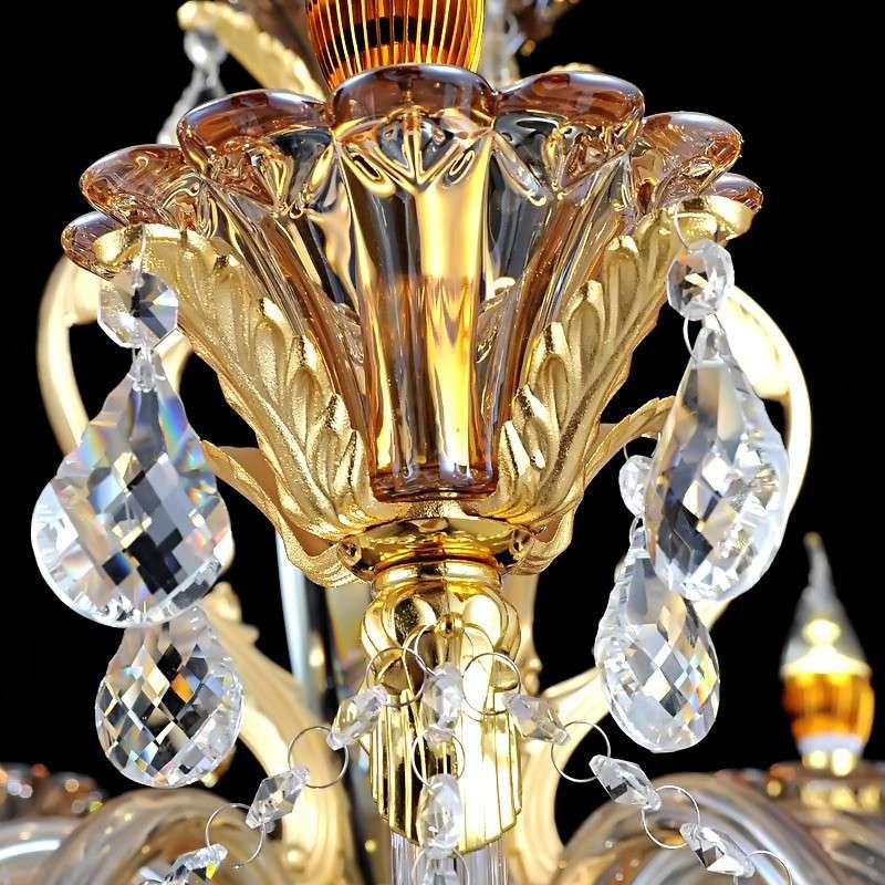蒙特丽欧式水晶吊灯 金黄电镀锌合金灯具 客厅灯卧室灯餐厅灯6623 10