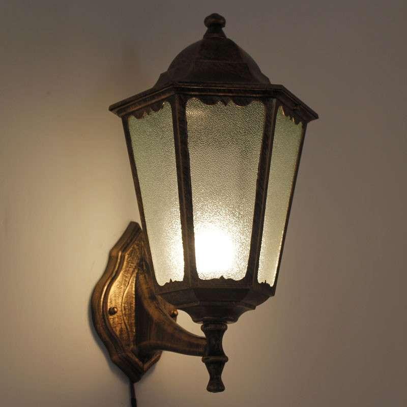 欧式花园别墅欧式户外灯壁灯复古城堡室外花园过道壁灯ry-0702图片