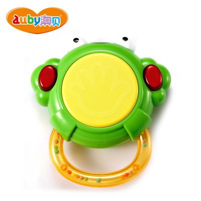 澳贝(AUBY) 益智玩具 青蛙小鼓 启智婴幼儿童声光音乐早教 塑料玩具 0-6个月463430DS