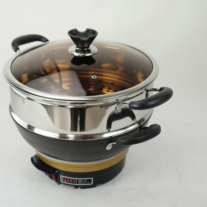 小厨妹铸铁真不锈电炒锅xf-36 6l图片