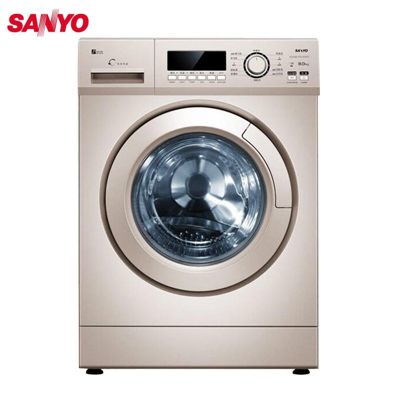 三洋(sanyo)xqg80-f8130wz 8公斤 全自动滚筒洗衣机(玫瑰金)