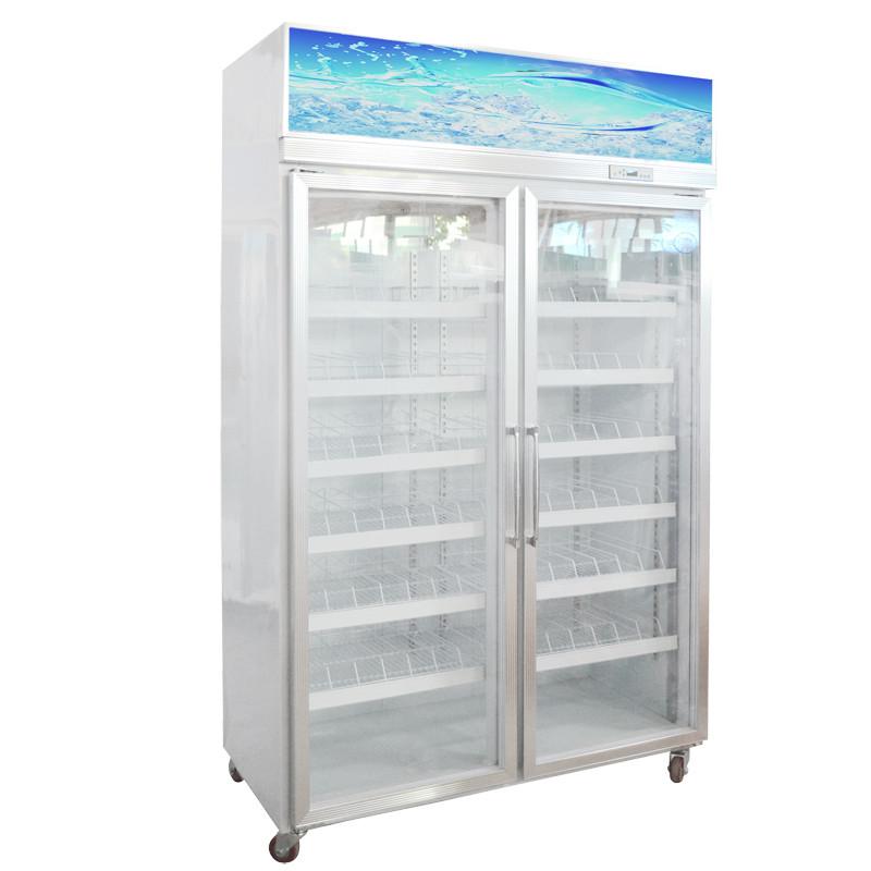26米二门风冷立式冰柜冷藏展示柜 饮料保鲜柜 茶叶冷藏柜陈列柜950l大