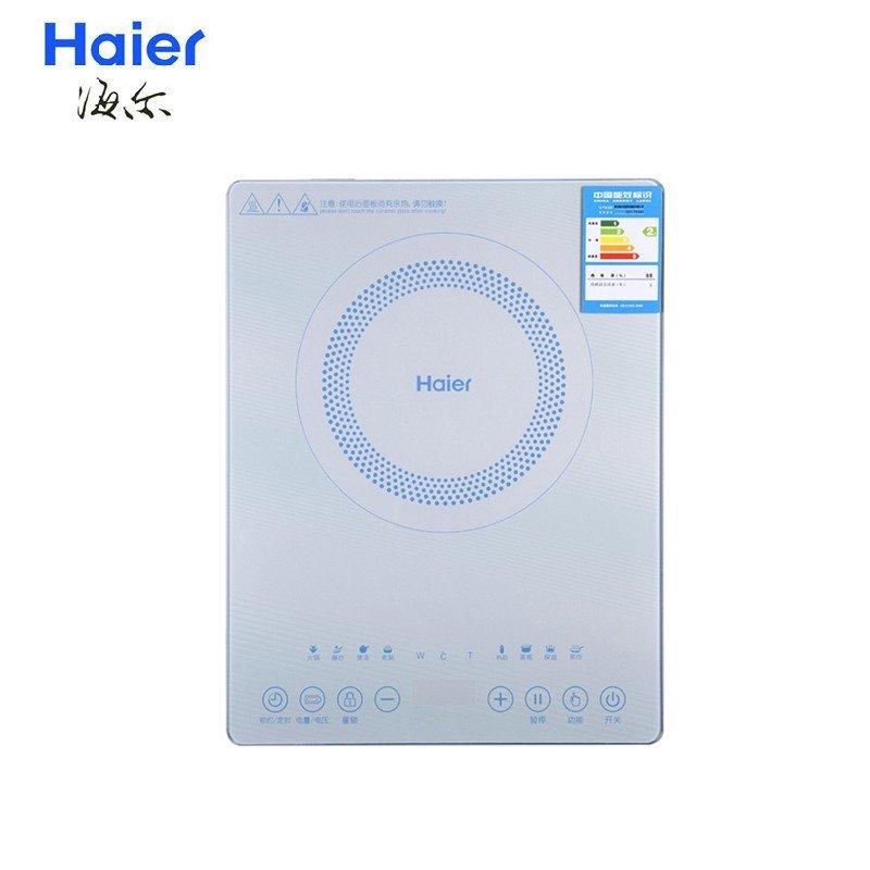 海尔(Haier) C21-T2301 新款超薄 彩色透明面板电磁炉 整板触摸带汤锅炒锅