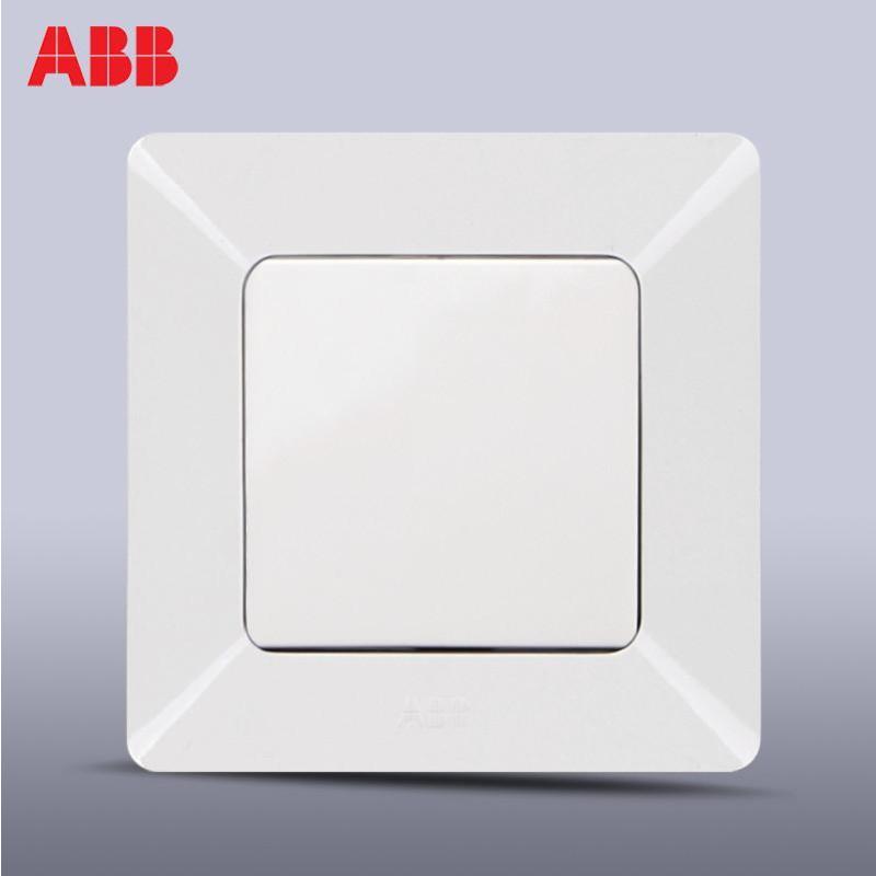 abb开关插座开关面板钢框超薄由雅系列一位双控开关 ap105
