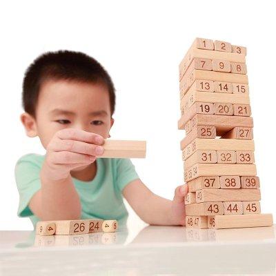 木玩世家EB009全家欢层层叠抽积木聚会亲子游戏叠叠高叠叠乐桌游儿童玩具礼物