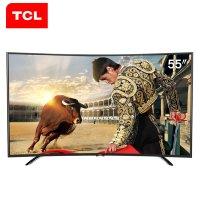 TCL L55H8800A-CUD 55英寸 4K曲面 海量影视 高色域 安卓智能LED电视(黑色)