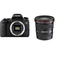 佳能(Canon) EOS 760D 单反套机(EF 17-40 MM F/4 L USM 镜头)+卡+包+UV镜+读卡器+清洁套装