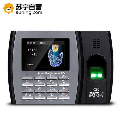 zkteco中控智慧K28指纹考勤机 指纹识别打卡机识别式指纹机上班签到机免软件高速U盘下载彩色屏
