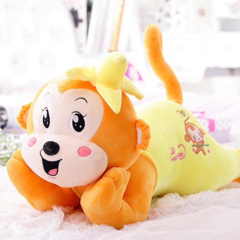 新款超萌香蕉趴猴公仔玩偶可爱小猴子毛绒玩具抱枕布娃娃送儿童小朋友