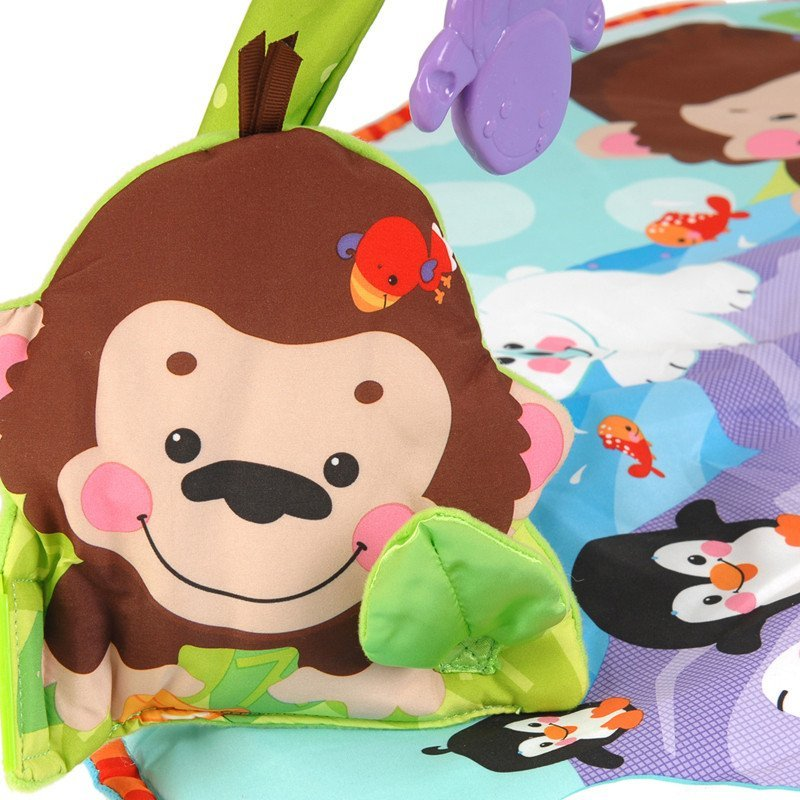 fisherprice费雪可爱动物健身器婴幼儿音乐爬行游戏毯