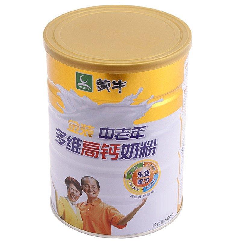 蒙牛奶粉官网积分_蒙牛金装中老年多维高钙奶粉罐装900g
