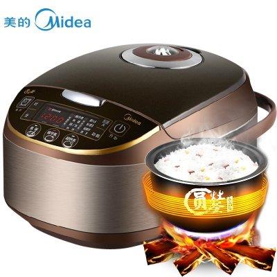 美的(Midea)MB-WFS4017TM特色圆灶釜智能可预约电饭煲 4升/4L