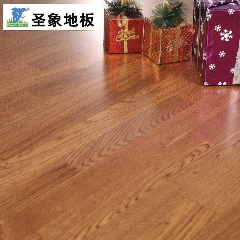 圣象康逸三层实木复合木地板 自带龙骨橡木地板 15mm厚环保nk8301