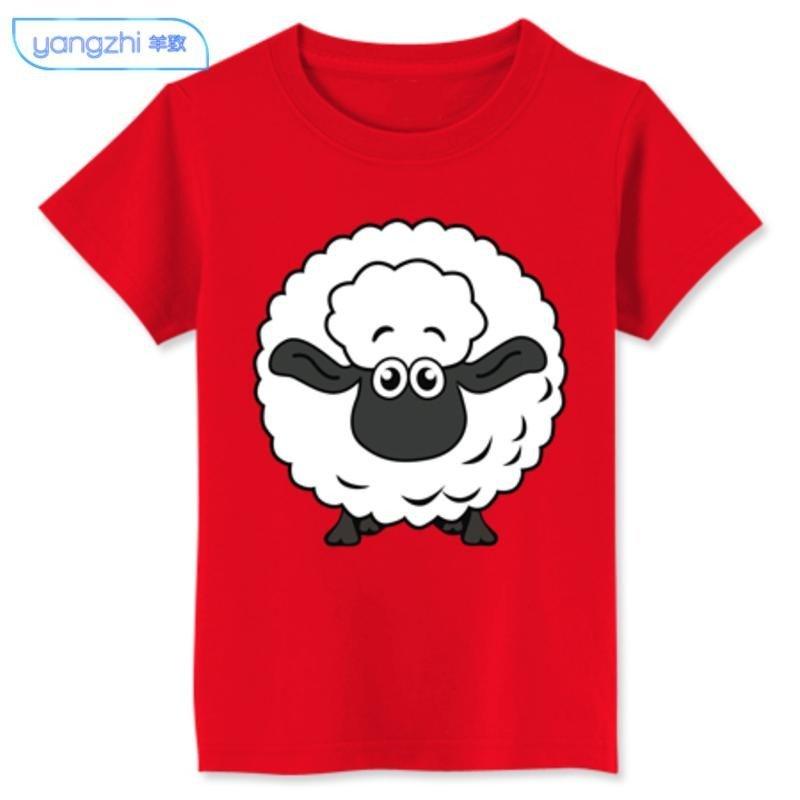 yz【精品】2015新款羊年本命年贺岁羊情侣装印花短袖t恤