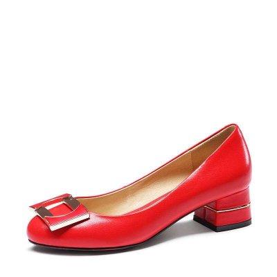 時代風時尚舒適粗跟女鞋E55611E55611