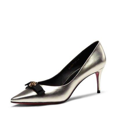 時代風優雅細跟尖頭女鞋E55608