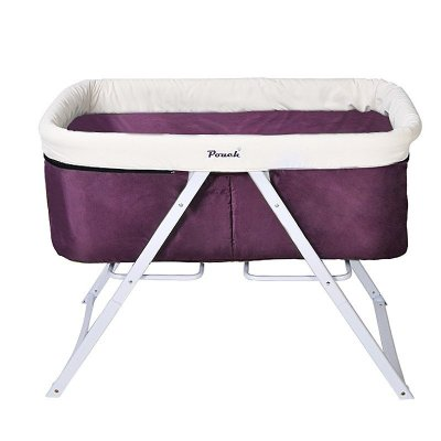 pouch婴儿床欧式多功能宝宝可折叠环保摇篮床 H19 紫色 100*57