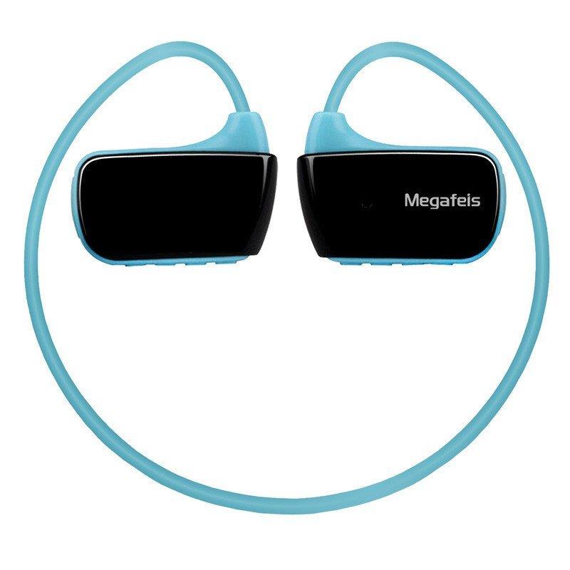 麦格菲斯(Megafeis)E350Plus 智能防水运动MP3 蓝牙耳机 头戴式音乐播放器 蓝黑 16G
