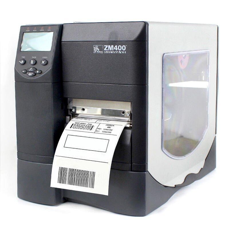 斑马(ZEBRA)ZM400 不干胶打印机 条码打印机 二维码标签打印机 不干胶标签机 600DPI